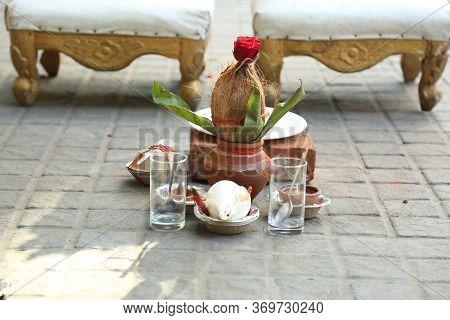 Ritual Of Worship Of Kalasha Before Marriage In Hinduism