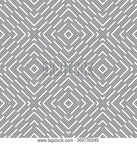 Seamless Pattern. Simple Classical Texture In The Form Of Rhombus Tiles. Regularly Repeating Strips,