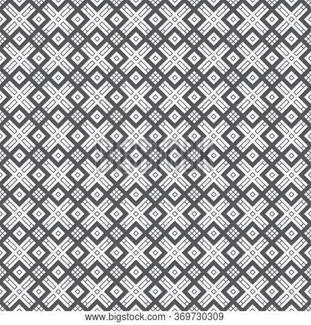 Seamless Pattern. Modern Stylish Texture. Regularly Repeating Tilel Shapes With Corner Strips, Rhomb