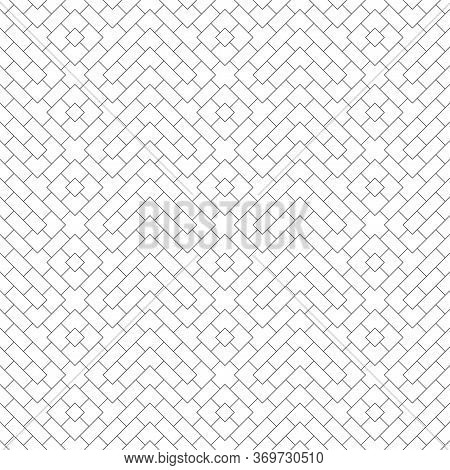 Seamless Pattern. Modern Stylish Geometrical Texture. Regularly Repeating Zigzag Shapes With Small R