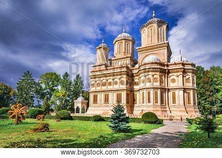 Arges Monastery, Romania. Curtea De Arges, Legend Of Manole  Landmark In Medieval Wallachia, Romania