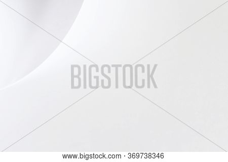 Abstract White Background Of Curved Wave Shape Line On White