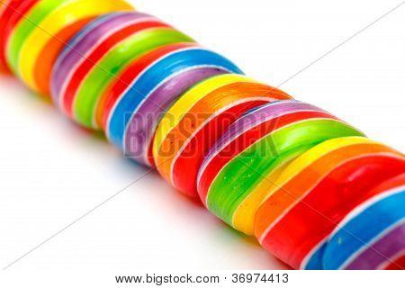 Regenbogen Wirbeln Lutscher Bonbons