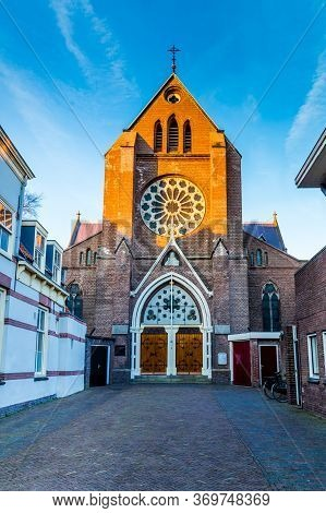 Protestant Church In The Historic City Centre Of Alkmaar In North-holland In The Netherlands. Also K