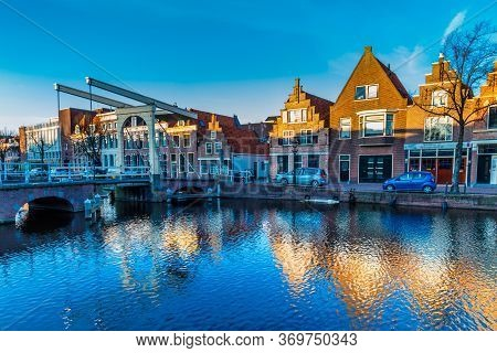 The Old City Centre Of Alkmaar In North-holland In The Netherlands. Also Known As The City Of Cheese