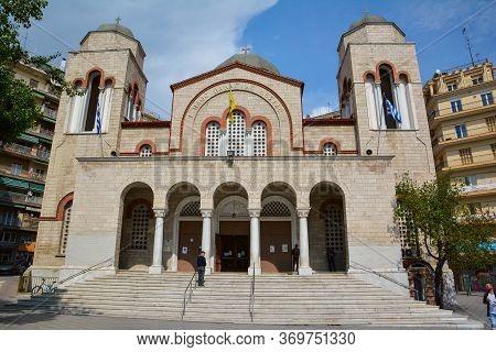 Thessaloniki, Greece - May 25, 2017: Orthodox Church In Thessaloniki, Greece.