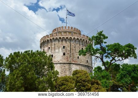 The White Tower Of Thessaloniki Is A Monument And Museum On The Waterfront Of The City Of Thessaloni