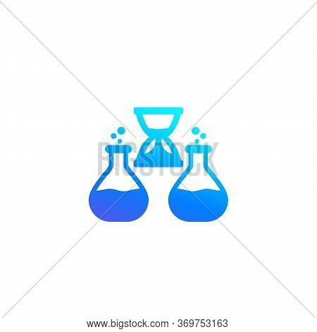 Chemical Reaction Duration Icon, Vector, Eps 10 File, Easy To Edit
