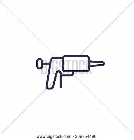 Silicone Caulk Gun Icon, Line, Eps 10 File, Easy To Edit