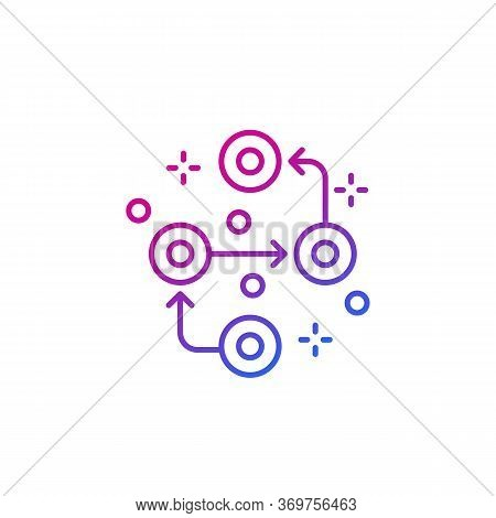 Methodology Vector Line Icon On White, Eps 10 File, Easy To Edit