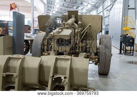 Bovington.dorset.united Kingdom.february 9th 2020.a 8.8 Cm Pak 43 German Anti Tank Gun From The Seco