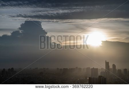 Bangkok, Thailand - May 27, 2020 : Sky View Of Bangkok With Skyscrapers In The Business District In