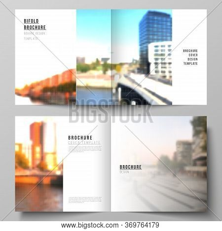 Vector Layout Of Two Covers Templates For Square Design Bifold Brochure, Flyer, Cover Design, Book D