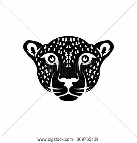 Head Puma Or Jaguar, Woodland Animal Head Icon Angry Puma