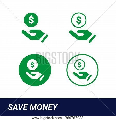 Earn Money Vector Icon, Salary Symbol. Modern, Simple Flat Vector Illustration For Web Site Or Mobil