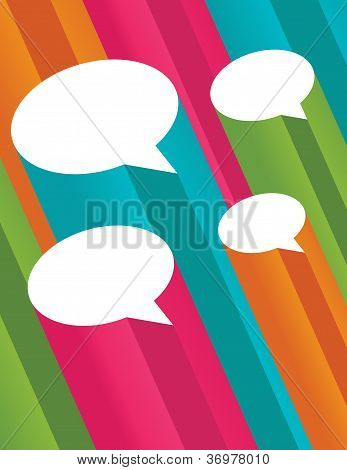 Colorful Background with Speech Bubbles