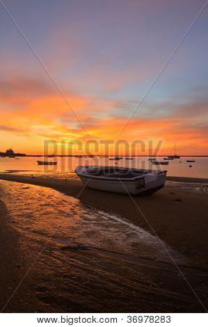 Sunrise With Fishing Boats