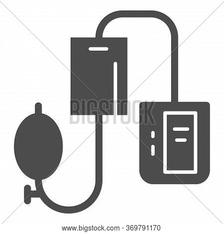 Electronic Tonometer Solid Icon, Heath Care Concept, Arterial Blood Pressure Checking Device Sign On