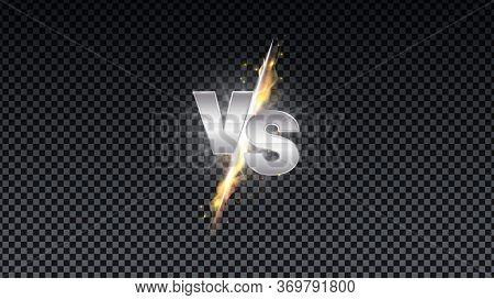 Versus Fire Battle. Mma Concept - Fight Night, Mma, Boxing, Wrestling, Thai Boxing. Vs Of Metal Lett