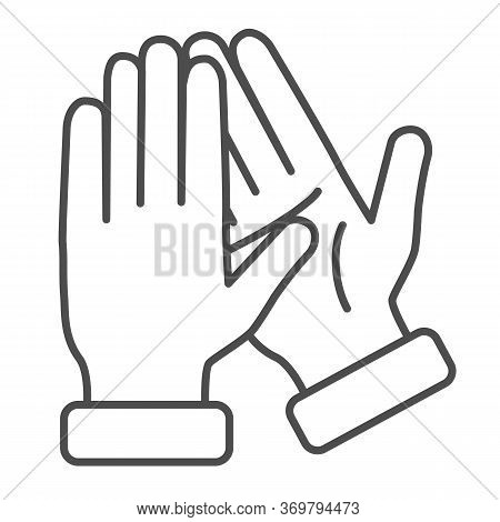 Applause Thin Line Icon, Gestures Concept, Bravo Sign On White Background, Hands Clapping Symbol In