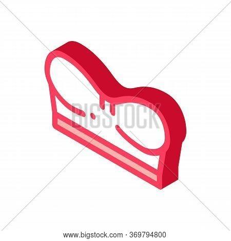 Mini Corset Bra Icon Vector. Isometric Mini Corset Bra Sign. Color Isolated Symbol Illustration