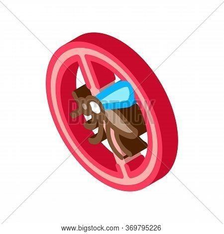 Anti-mosquito Icon Vector. Isometric Anti-mosquito Sign. Color Isolated Symbol Illustration