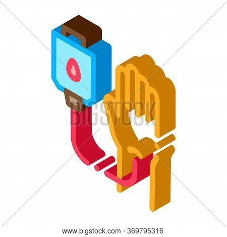 Drop Counter Icon Vector. Isometric Drop Counter Sign. Color Isolated Symbol Illustration