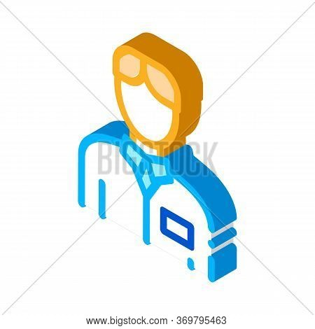 Nurse Silhouette Icon Vector. Isometric Nurse Silhouette Sign. Color Isolated Symbol Illustration
