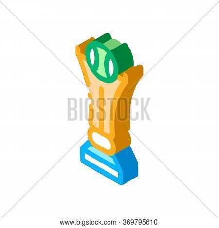 Championship Cup Icon Vector. Isometric Championship Cup Sign. Color Isolated Symbol Illustration