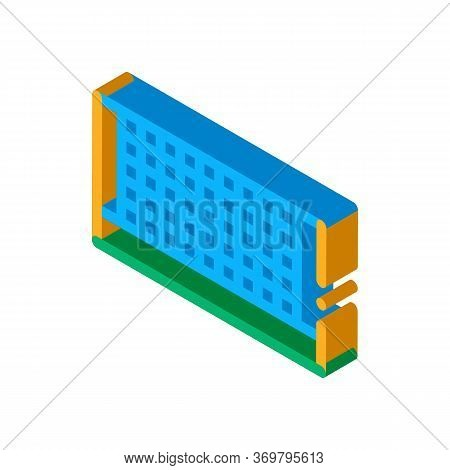 Tennis Court Net Icon Vector. Isometric Tennis Court Net Sign. Color Isolated Symbol Illustration