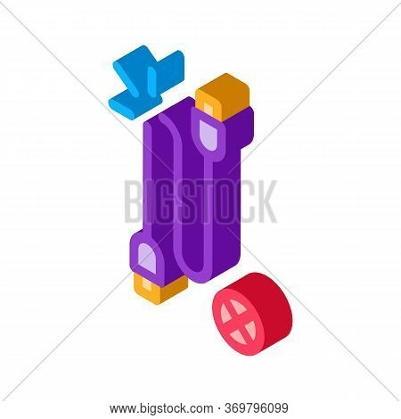 Cable Breakdown Icon Vector. Isometric Cable Breakdown Sign. Color Isolated Symbol Illustration