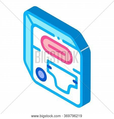 Diaper Device Icon Vector. Isometric Diaper Device Sign. Color Isolated Symbol Illustration