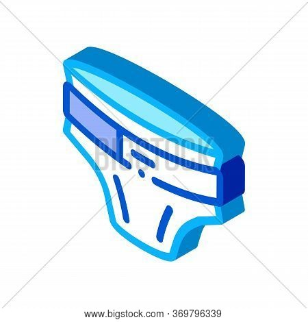 Diaper With Belt Icon Vector. Isometric Diaper With Belt Sign. Color Isolated Symbol Illustration