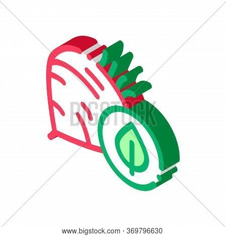 Beet Vegetable Icon Vector. Isometric Beet Vegetable Sign. Color Isolated Symbol Illustration