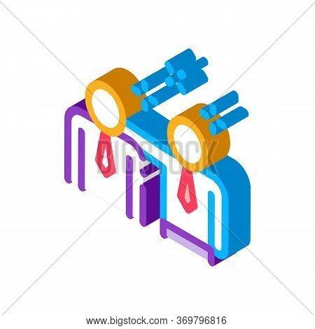 Man Pat Shoulder Icon Vector. Isometric Man Pat Shoulder Sign. Color Isolated Symbol Illustration