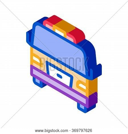 Tow Car Truck Icon Vector. Isometric Tow Car Truck Sign. Color Isolated Symbol Illustration