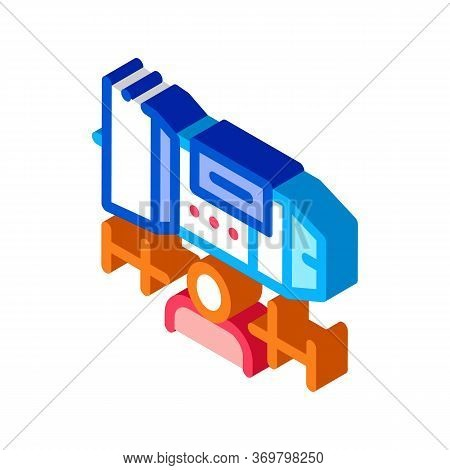 Engineer Engine Icon Vector. Isometric Engineer Engine Sign. Color Isolated Symbol Illustration