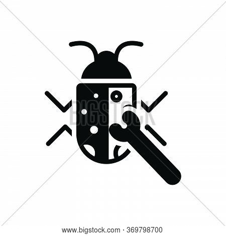 Black Solid Icon For Bug-fixing Bug Fixing Protection Security Software Technology