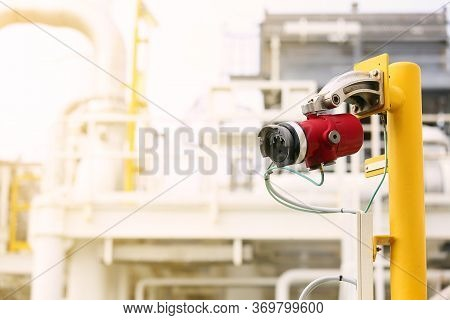 Gas Detector Station On Oil And Gas Plant And Monitor Gas Leaked Around The Production Process For A