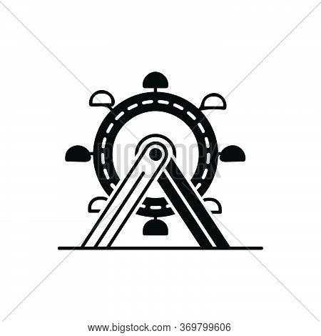 Black Solid Icon For Ferris-wheel  Ferris Wheel Amusement-park