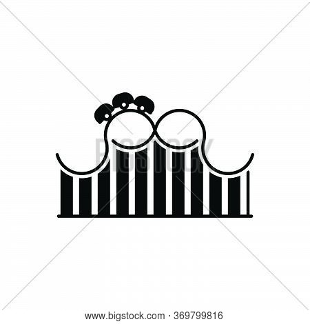 Black Solid Icon For Roller-coaster Roller Coaster Funfair  Theme-park