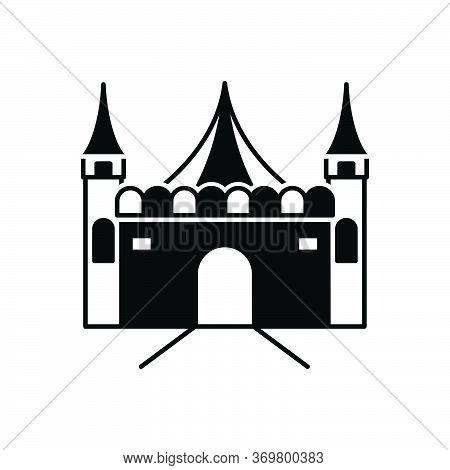 Black Solid Icon For Amusement-park Amusement Park Funfair  Carnival