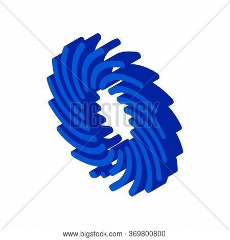 Tornado Wind Icon Vector. Isometric Tornado Wind Isometric Sign. Color Isolated Symbol Illustration