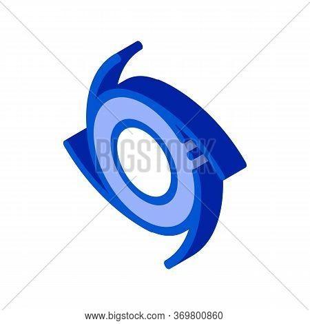 Cyclone Tornado Icon Vector. Isometric Cyclone Tornado Isometric Sign. Color Isolated Symbol Illustr