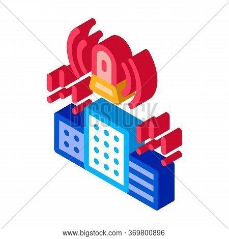 Alarm City Town Icon Vector. Isometric Alarm City Town Isometric Sign. Color Isolated Symbol Illustr