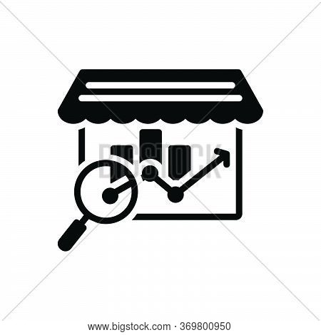 Black Solid Icon For Market-analysis Market Analysis Bazaar Research