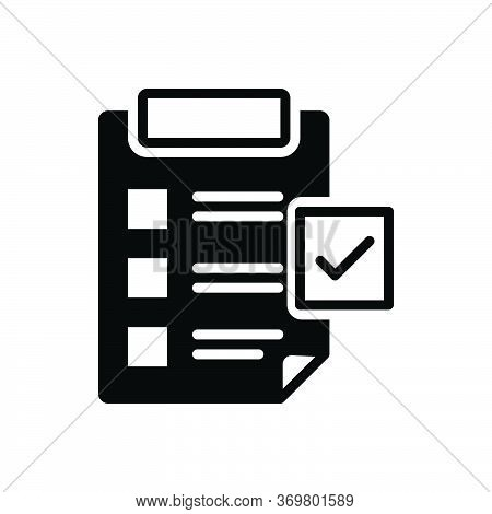 Black Solid Icon For Directory-submission Directory Submission Listings Sheet Checklist