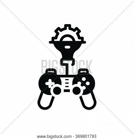 Black Solid Icon For Game-developing Game Developing Sport Development
