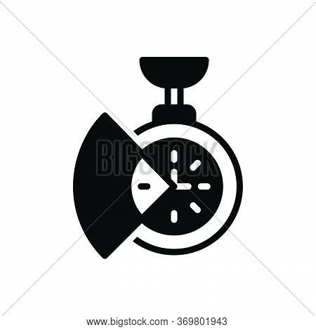 Black Solid Icon For Time-saving Time Saving Reminder Clock Parsimony Saver