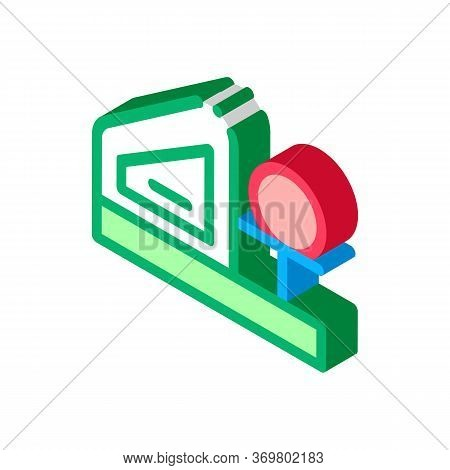 Bowling Machine Icon Vector. Isometric Bowling Machine Isometric Sign. Color Isolated Symbol Illustr